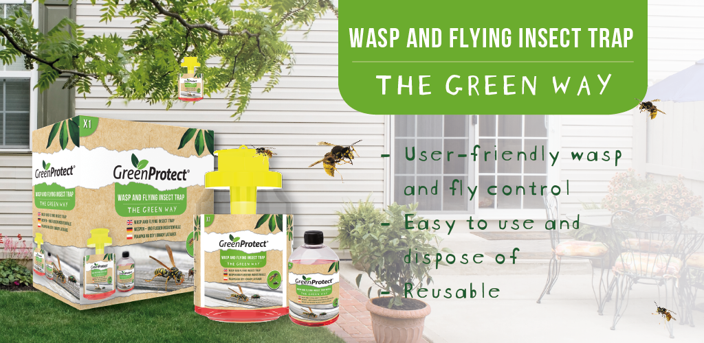 Green Protect Wasp Trap EN banner